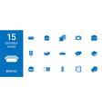 15 bread icons vector image vector image