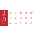 15 sign icons vector image vector image