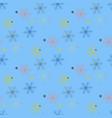 abstract handmade snowflake seamless pattern vector image vector image