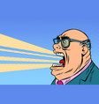 angry boss yells vector image vector image