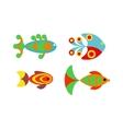 Aquatic fish wildlife aquarium underwater nature vector image vector image