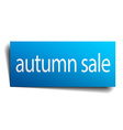 autumn sale blue square isolated paper sign on vector image vector image