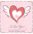 background with valentine heart vector image vector image