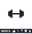 Barbell icon flat vector image vector image