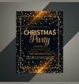 beautiful golden sparkles christmas flyer template vector image vector image