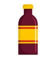 beverage bottle icon flat style vector image