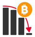 bitcoin panic fall chart flat icon vector image vector image