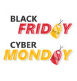 black friday and cyber monday vector image