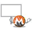 bring board monero coin character cartoon vector image