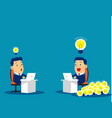 business team competition for working and vector image