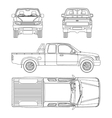 car pickup truck extra cab vector image vector image