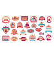 circus retro labels carnival event vector image
