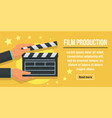 city film production concept banner flat style vector image