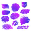 collection of ultraviolet pencil hatching vector image