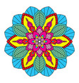 colorful floral mandala vector image vector image