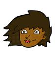 comic cartoon female face vector image vector image