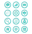 Communication buttons blue set vector image vector image