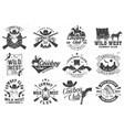 cowboy club badge ranch rodeo concept vector image vector image