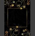 decorative gold and black floral design