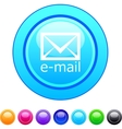 E-mail circle button vector image