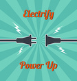 electricity vintage theme vector image vector image