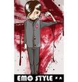 Emo Style Cartoon vector image