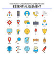 essential element flat line icon set - business vector image vector image