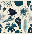 fashionable seamless tropical pattern with blue vector image vector image