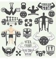 Fitness gym icons vector image