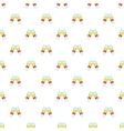 Glasses of champagne with bows pattern vector image