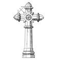 granite cross owners vintage engraving vector image vector image