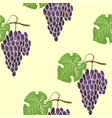 grape seamless pathless coloured pattern vector image vector image