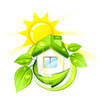green eco home vector image vector image