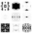 grunge seamless patterns vector image vector image