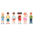 Happy cute school children kids collection set vector image vector image