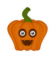 happy halloween pumpkin cartoon character vector image vector image