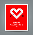 Happy valentine day origami heart paper vector image vector image