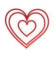 hearts icon symbol of love on valentines day vector image