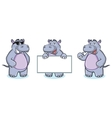 Hippo Mascot happy vector image vector image