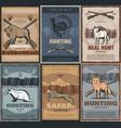 hunter club hunting season adventure wild animals vector image vector image