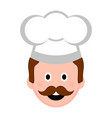 isolated male chef avatar vector image vector image