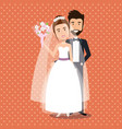 just married couple avatars characters vector image vector image