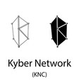 kyber network black silhouette vector image vector image