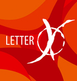 logo letter X on a red background vector image vector image