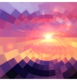 Magic sunset in abstract stained glass vector image