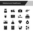 medical and healthcare icons design vector image vector image