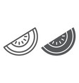 melon line and glyph icon fruit and vitamin vector image vector image