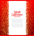 merry christmas card design with sparkles vector image vector image