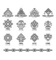native tribal icon set vector image vector image