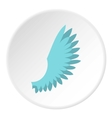 One wing icon flat style vector image vector image